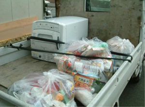 盛岡市にて家庭ごみ、洗濯機回収処分の写真
