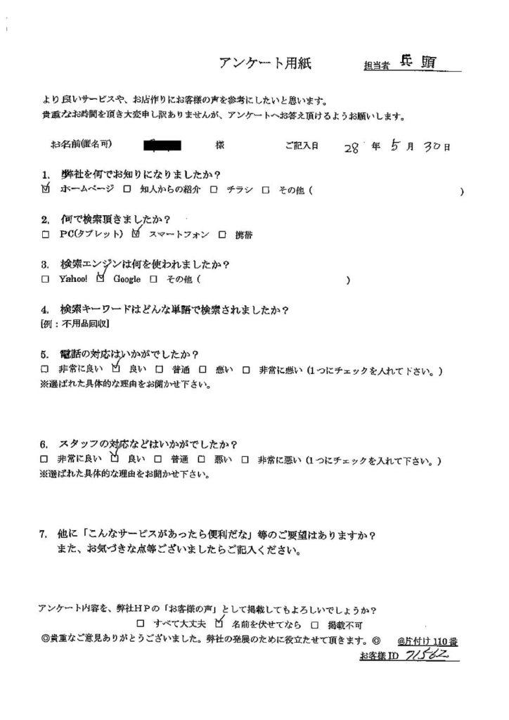 一関市にて納戸の片付け整理のご依頼 お客様の声