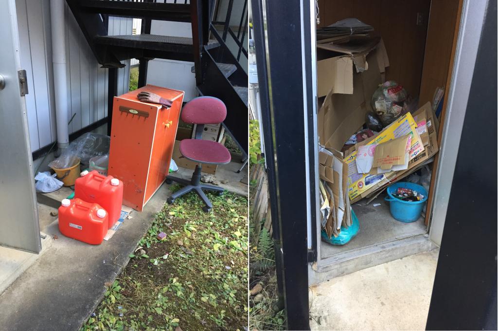 北上市中野町でごみ屋敷の片付けに伴い家具やごみ(タンス、学習机、雑貨など)の回収のご依頼 お客様の声
