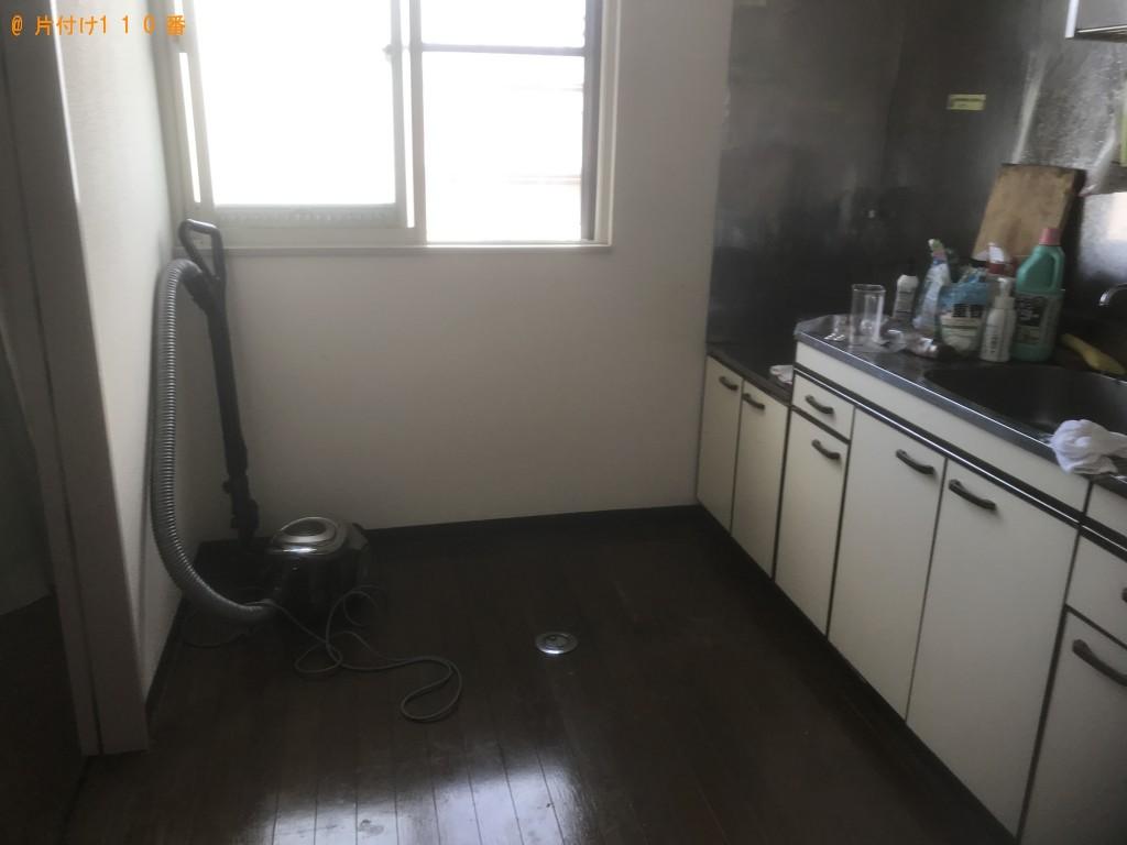 【花巻市】遺品整理に伴い冷蔵庫、洗濯機、扇風機、カラーボックス等の回収・処分