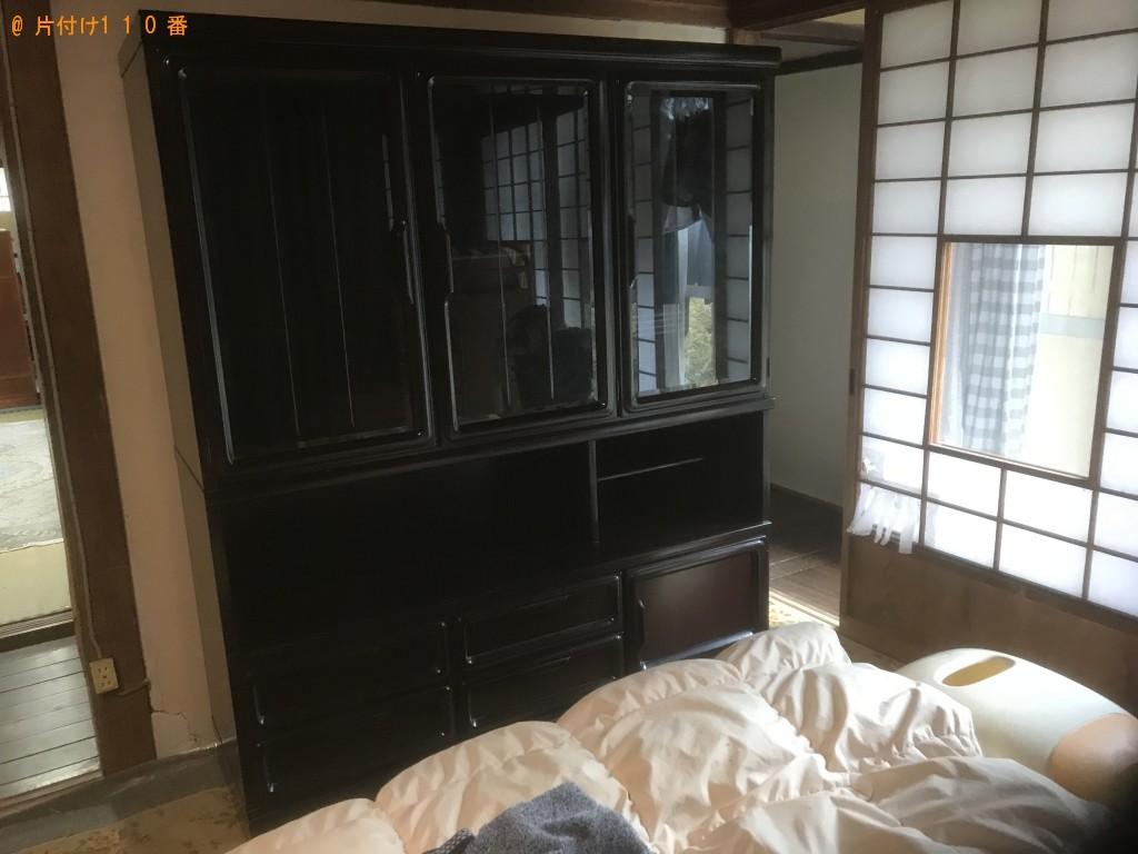 【一関市山目町】シングルベッドマットレス、整理棚等の回収・処分