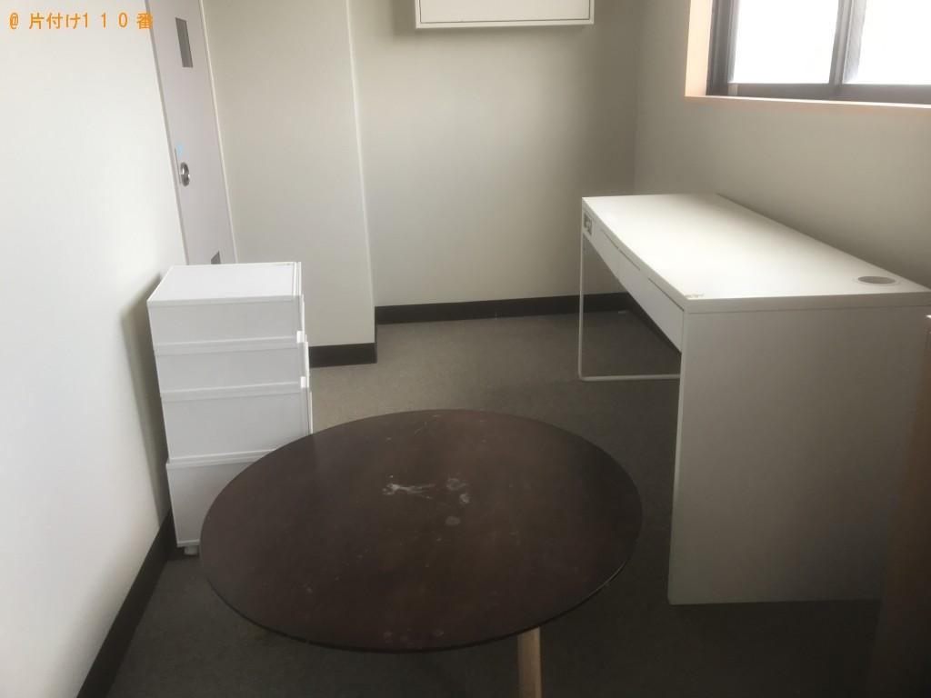 【岩手県洋野町】洗濯機、カラーボックス、PCデスクの回収・処分ご依頼
