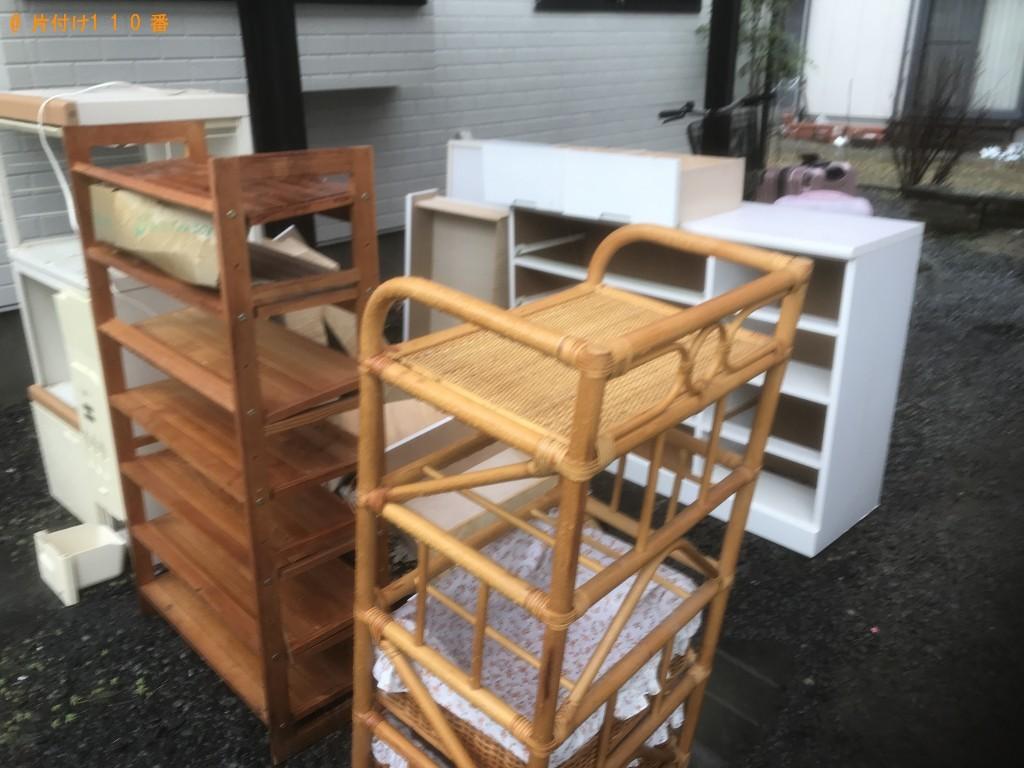 【紫波町】レンジ台、チェスト、座椅子、カラーボックス等の回収