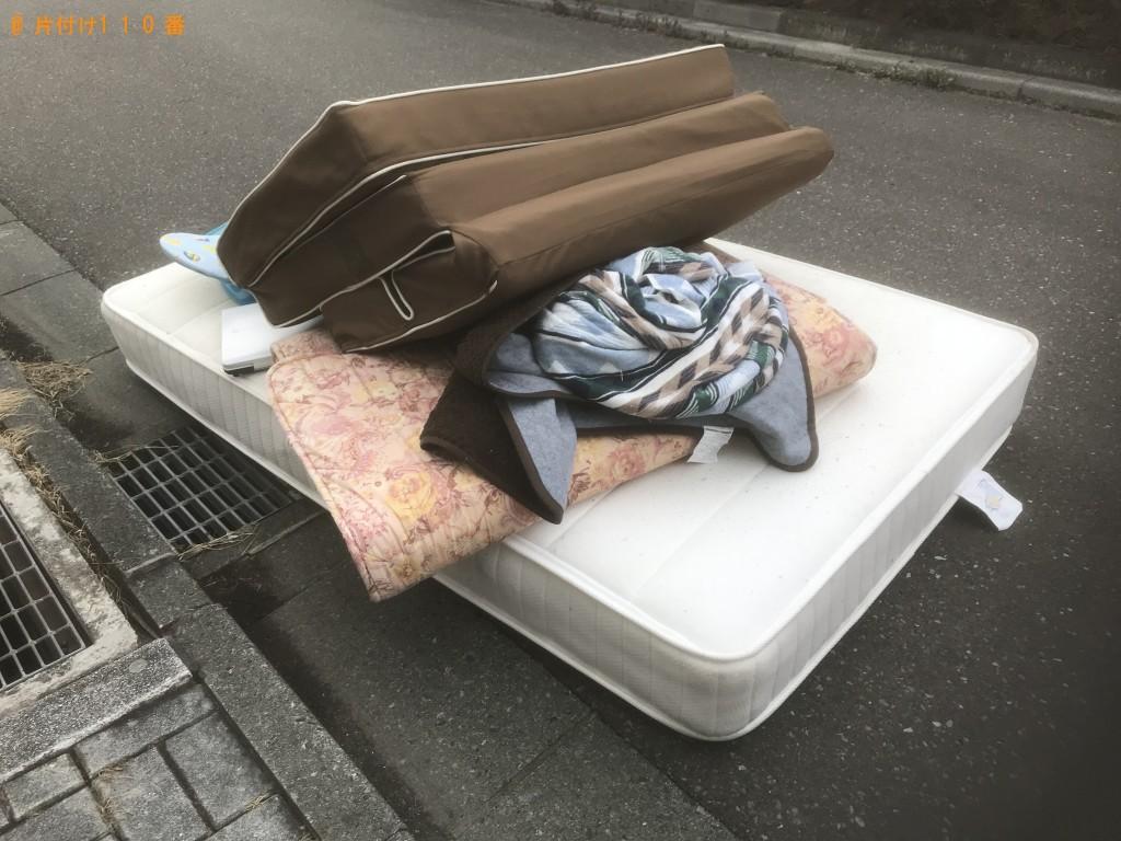 【陸前高田市】シングルベッドマットレス、布団の回収・処分ご依頼