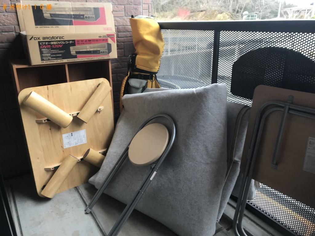 【久慈市】スチール棚、ゴルフバッグ、物干し竿等の回収・処分