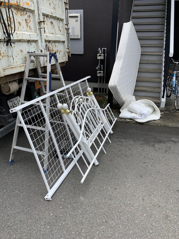 【北上市上野町】シングルベッド、ベッドマットレスの回収・処分
