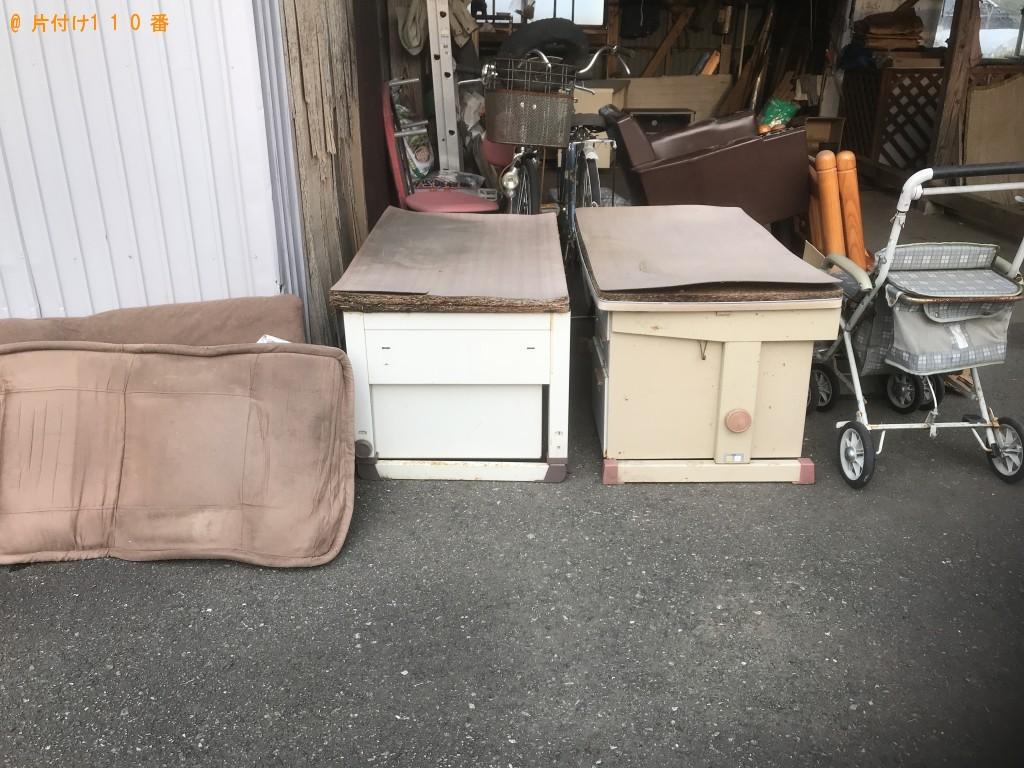 【銚子市】二段ベッド、椅子、学習机、ラックの回収・処分