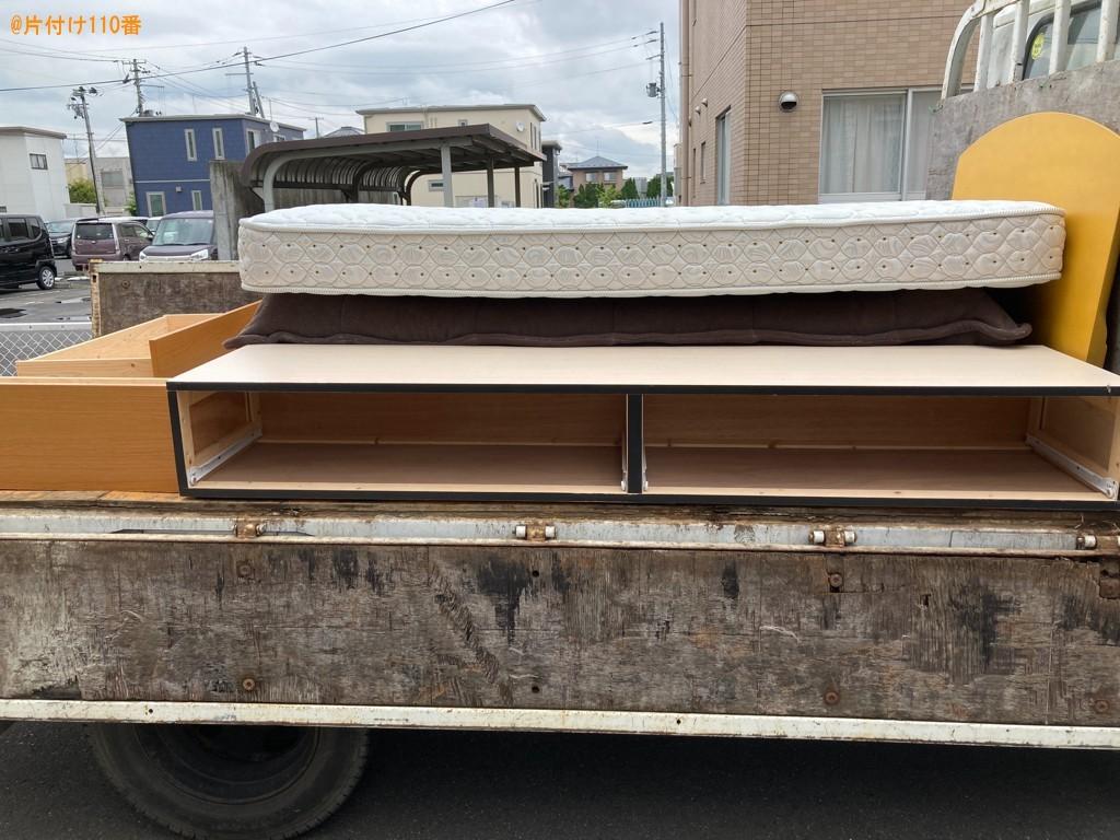 【一関市】マットレス付きシングルベッドの回収・処分ご依頼